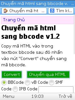 [Share] Code chuyển mã HTML sang BBcode bản đẹp
